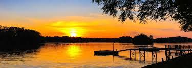 a beautiful lakesunset